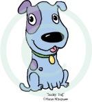 lucky blue dog