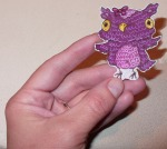 Owl image reproduced in Shrinky Dinks