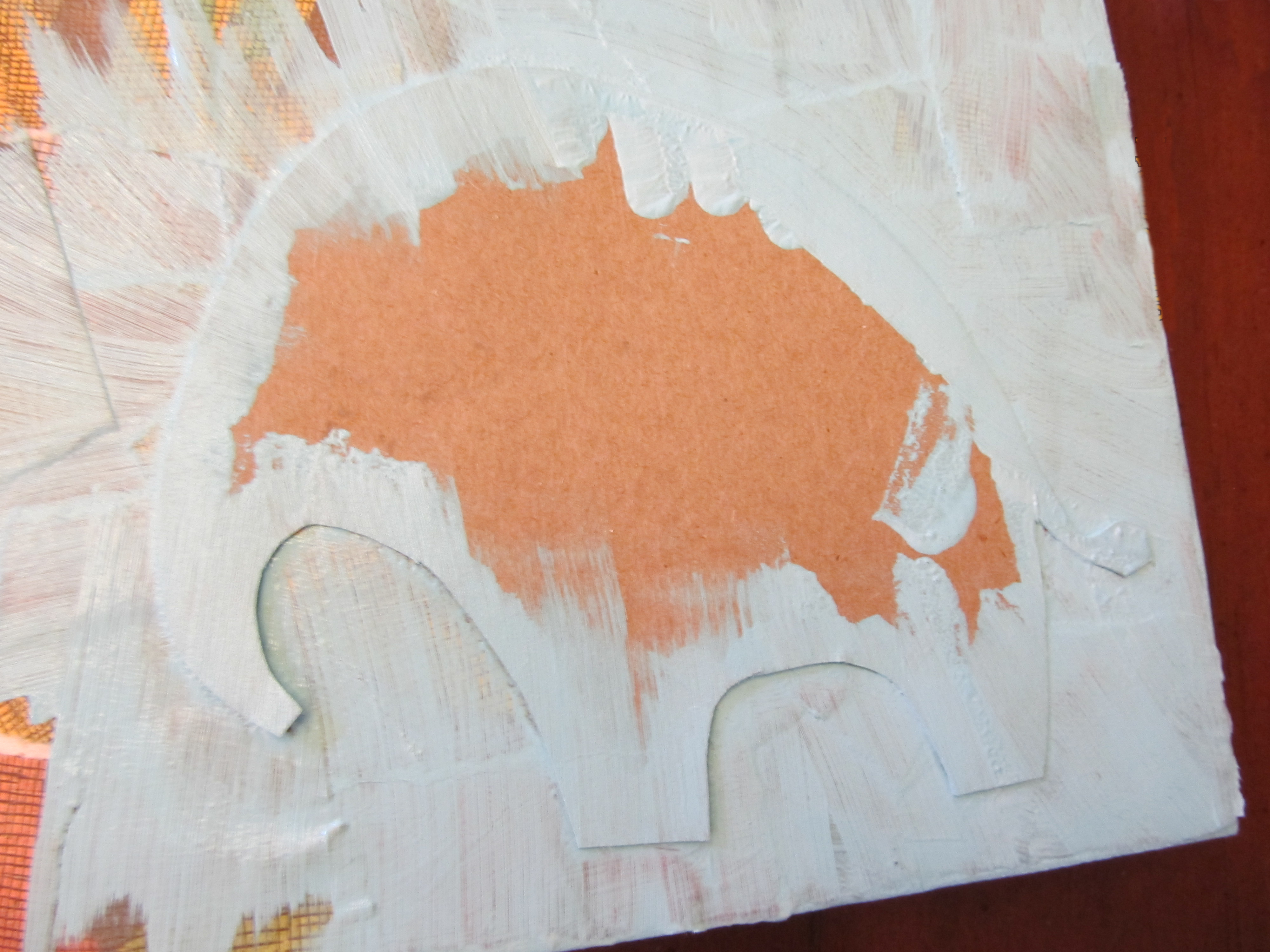 how to make a stencil to paint on canvas
