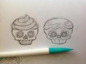 cupcake-skull-sketch-karenwindness